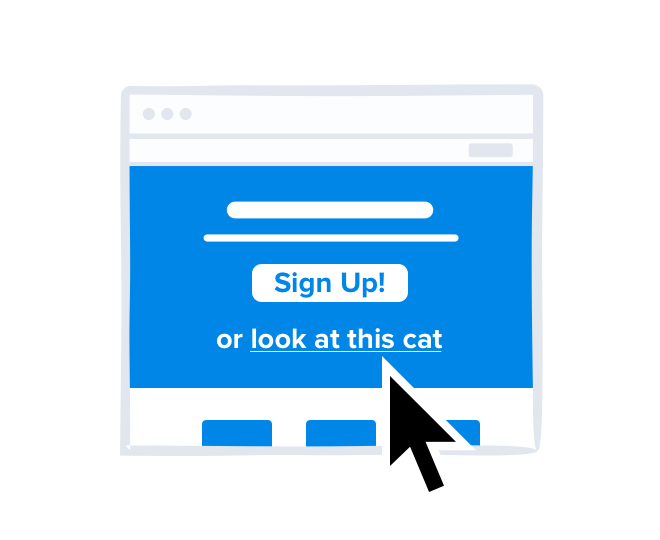 Illustration demonstrating bad click Patterns