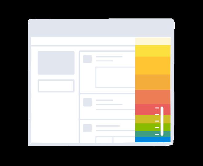 Website snapshot scrollmap report